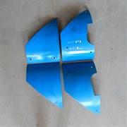 Комплект истираемых листов (броня) растворонасоса, 4 листа, центральный выход 4 мм.