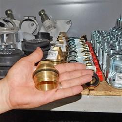 Камера редуктора понижения давления воды латунная с крышкой - фото 5489
