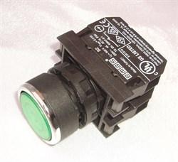 Кнопка зеленая с подсветкой М22 4А - фото 5607