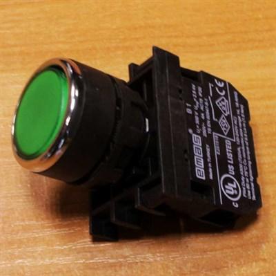 Кнопка зеленая без фиксации - фото 6442