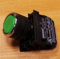 Кнопка зеленая без фиксации